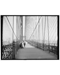 On Brooklyn Bridge, New York, N.Y., Phot... by Library of Congress