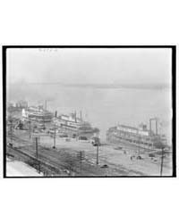 The Levee from the Custom House, Memphis... by Library of Congress
