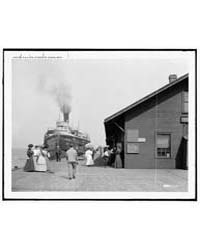 D. & C. Steamer at Dock, St. Ignace, Mic... by Library of Congress