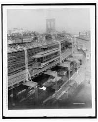 Approach to Brooklyn Bridge, Brooklyn, N... by Library of Congress