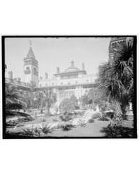 Court, Ponce De Leon Hotel, St. Augustin... by Library of Congress