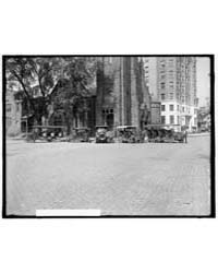 Tourist Buses in Front of Church with Ho... by Library of Congress
