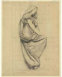 Drapery Study for Figure of Physics, Pho... by Cox, Kenyon