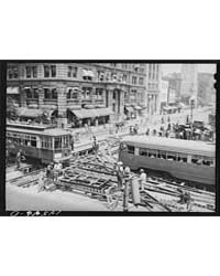 Repairing Streetcar Tracks, Fourteenth a... by Library of Congress