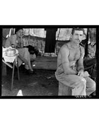 Unemployed Lumber Worker Goes with His W... by Library of Congress