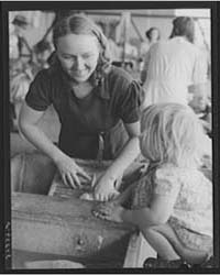 Woman Washing Clothes Tulare Migrant Cam... by Library of Congress