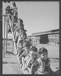 Nursery School Children in Playground Ro... by Library of Congress