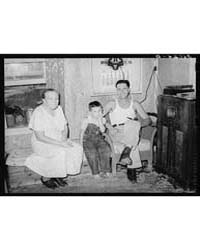 Truck Driver, His Mother and Son at Home... by Library of Congress