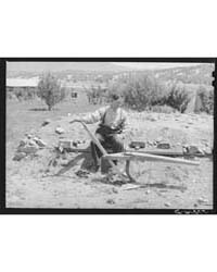 Spanish-american Farmer with Wooden Plow... by Library of Congress