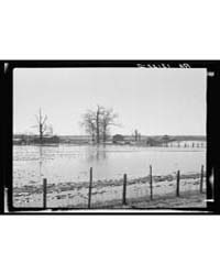 Farmland Submerged by the 1937 Flood at ... by Library of Congress
