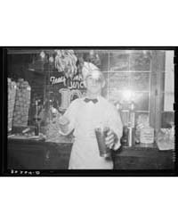 Soda Jerker Flipping Ice Cream Into Malt... by Library of Congress