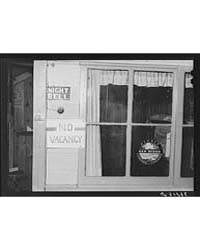 No Vacancy Sign Hung Out at Tourist Cour... by Library of Congress