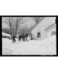 Taking the Horses Into New Barn After Ha... by Library of Congress