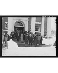 Townspeople Outside Town Meeting Place W... by Library of Congress
