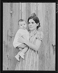 Mother and Child Living on Ozark Mountai... by Library of Congress
