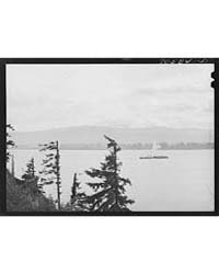 Barge on Columbia River Cowlitz County, ... by Library of Congress