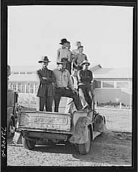 Farm Workers Watch Events at the Second ... by Library of Congress