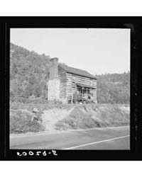 Farmhouse, Chinked Log West Virginia, Ph... by Library of Congress