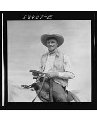 Lyman Brewster of Quarter Circle U Ranch... by Library of Congress