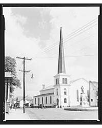 Church and Civil War Memorial in the Tow... by Library of Congress