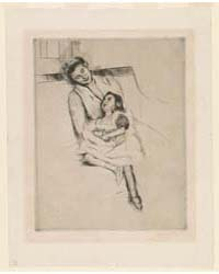 Jeannette Her Mother Seated on a Sofa, P... by Cassatt, Mary