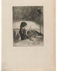 Reading by Lamplight, Photographs 01207V by Whistler, James McNeill