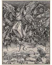 St. Michael Fighting the Dragon, Ad., Ph... by Dürer, Albrecht