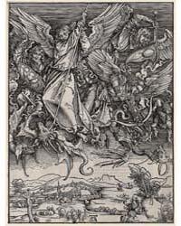 St. Michael Fighting the Dragon, Ad., Ph... by Dürer, Albrecht