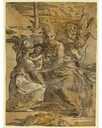 The Holy Family with St. Margaret a Bish... by Trento, Antonio Da