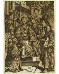 The Virgin Child Surrounded by Saints Kn... by Gandini, Alessandro