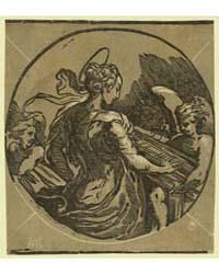 St. Cecilia, Aa Monogram of Andrea Andre... by Trento, Antonio Da