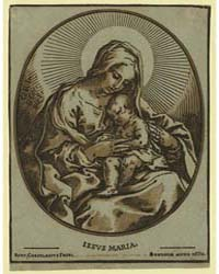 The Virgin Child, Bart. Coriolanus Fecit... by Coriolano, Bartolomeo