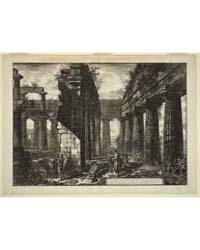 Interior View of the Temple of Neptune, ... by Piranesi, Giovanni Battista