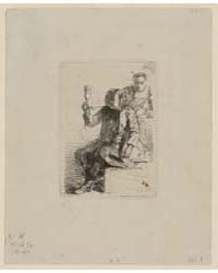 The Dutchman Holding a Glass, Photograph... by Whistler, James McNeill