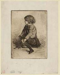 Seymour Seated, Photographs 25249V by Whistler, James McNeill
