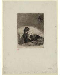 Reading by Lamplight, Photographs 25250V by Whistler, James McNeill
