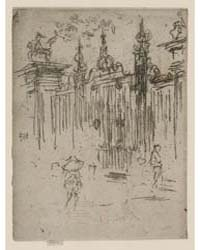 Gates, City, London, Photographs 25280V by Whistler, James McNeill