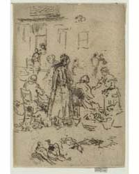 Market-women, Loches, Photographs 25336V by Whistler, James McNeill