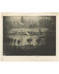 Dark Day on the Embankment, J. Pennell, ... by Pennell, Joseph