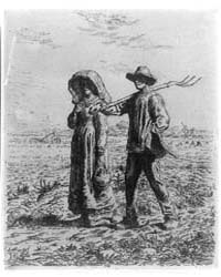 Peasants Going to Work, J.F. Millet, Pho... by Millet, Jean Francois