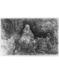 Flight Into Egypt: Crossing a Brook, Pho... by Rembrandt Harmenszoon Van Rijn