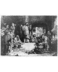 Christ Preaching, Photographs 3B08605R by Rembrandt Harmenszoon Van Rijn