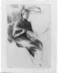 The Mandolin Player, Photographs 3B23415... by Cassatt, Mary