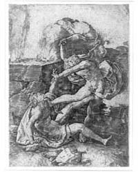 Cain Killing Abel, Photographs 3B30843R by Lucas, Van Leyden
