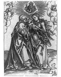 St. Anne Receiving the Christ Child from... by Cranach, Lucas