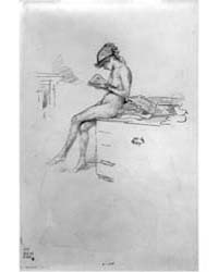 The Little Nude Model Reading, Photograp... by Whistler, James McNeill