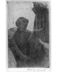 Lydia Reading, Turned Toward Right, Phot... by Cassatt, Mary