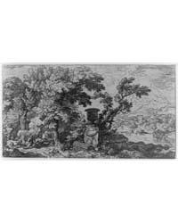 Landscape, with Urn in Center, Three Fig... by Dietrich, Christian Wilhelm Ernst