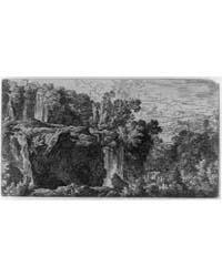 Landscape with Rough Terrain Waterfall, ... by Dietrich, Christian Wilhelm Ernst
