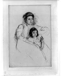 Jeannette Leaning Against Her Mother Abo... by Cassatt, Mary
